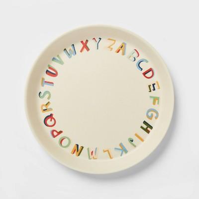 "7"" Bamboo and Melamine ABC Kids Dinner Plate - Pillowfort™"