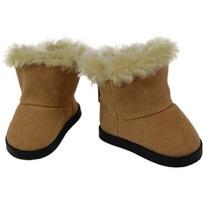 The Queen's Treasures 18 Inch Doll Clothes Accessory, Sherpa Style Boots Plus Authentic Shoe Box