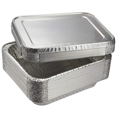 """Aluminum Foil Pans - 20-Piece Half-Size Deep Disposable Steam Table Pans with Lids for Baking, Roasting, Broiling, Cooking, 12.75 x 2.25 x 10.25"""""""