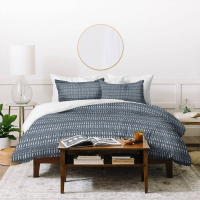 Little Arrow Design Co Dash Dot Stripe Duvet Set - Deny Designs