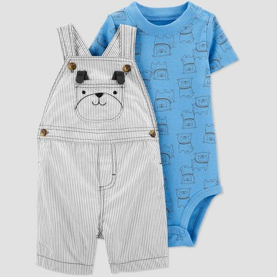Baby Boys' Dog Top & Bottom Set - Just One You® made by carter's Navy/Gray 6M