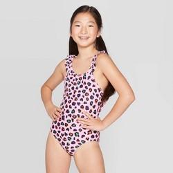 Girls' Fierce Girl One Piece Swimsuit - Cat & Jack™ Pink