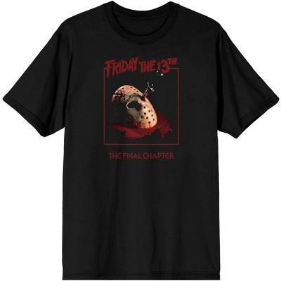 Friday the 13th Mens Friday the 13th Friday the 13th Product Logo Regular Fit Short Sleeve Crew Graphic Tee - Black Medium