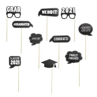 10ct Graduation Party Photo Props Kit - Spritz™
