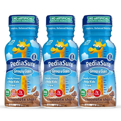 PediaSure Grow & Gain Kids' Nutritional Shake Chocolate - 6 ct/48 fl oz - image 1 of 4