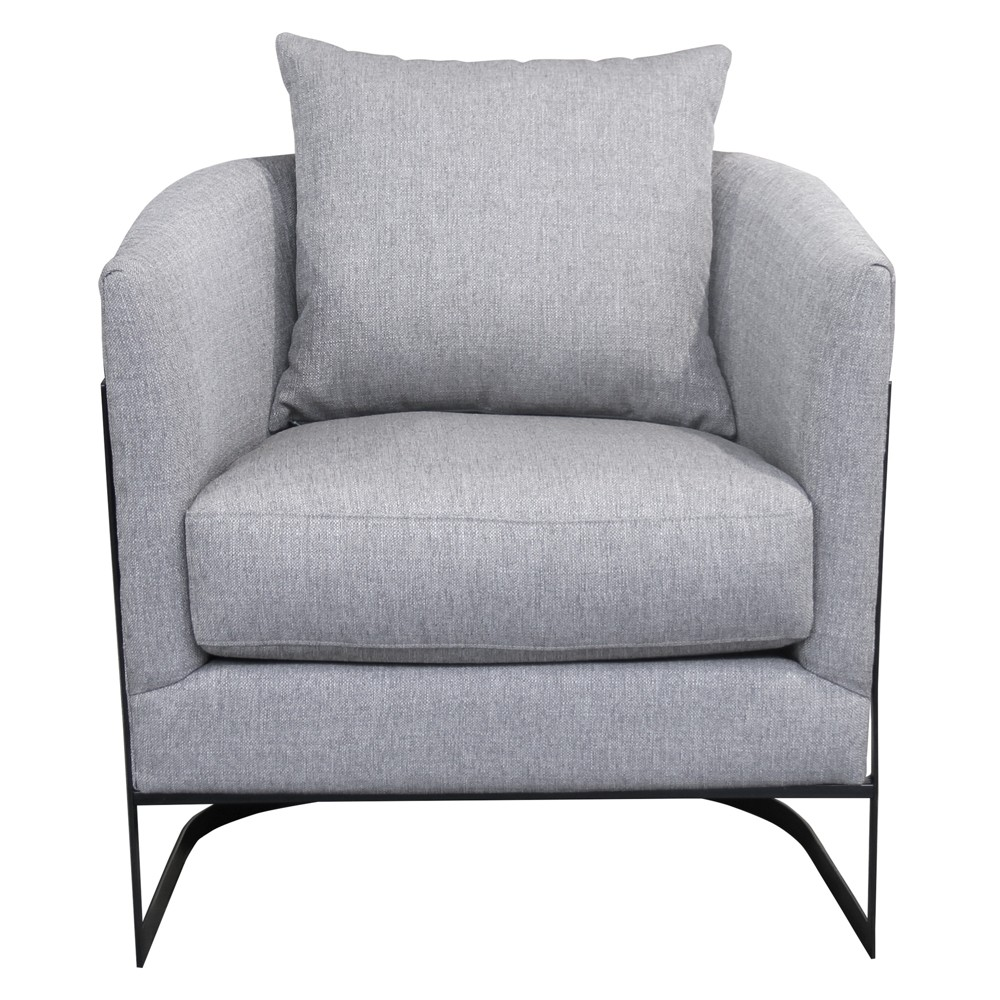 Armen Living Swan Contemporary Accent Chair Gray