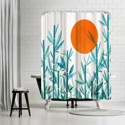 """Americanflat Zen Garden Sunset by Modern Tropical 71"""" x 74"""" Shower Curtain"""