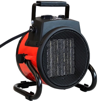 Sunnydaze Decor 1500 Watt Portable Ceramic Space Heater, Red and Black