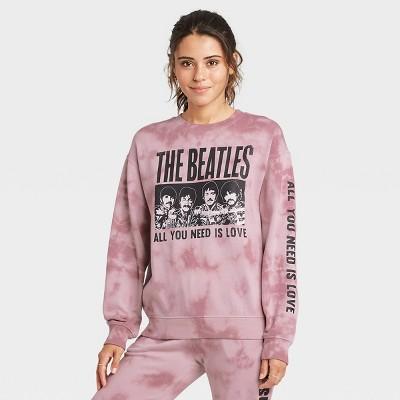 Women's The Beatles Graphic Sweatshirt - Rose