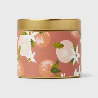 4oz Mini Grab Tin with Patterned Wrap Label Cedarwood Mandarin Candle - Opalhouse™