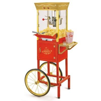 "Nostalgia 53"" Vintage Commercial Popcorn Cart - CCP525RG"