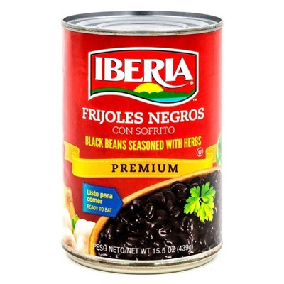 Iberia Black Beans Seasoned with Herbs - 15.5oz