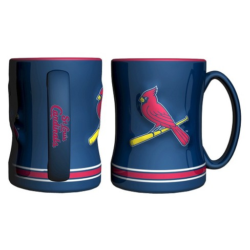 Boelter Brands MLB St. Louis Cardinals Set of 2 Relief Coffee Mug - 14oz - image 1 of 1