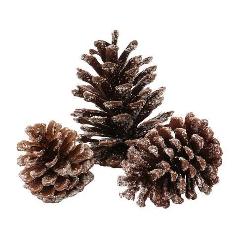 Artificial Christmas Glitter Pinecones 15ct - Wondershop™ - image 1 of 2