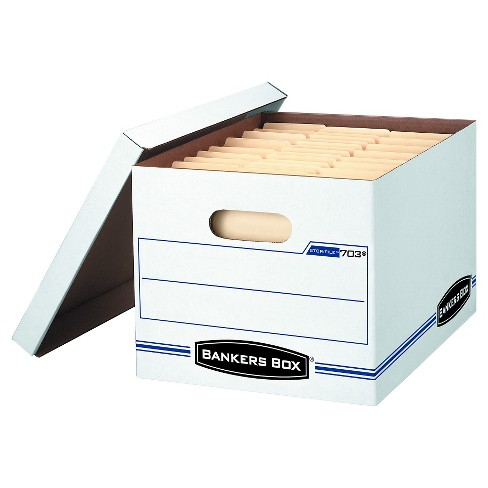 "Banker Box® Stor/File™ Letter-Legal Storage Boxes with Lift-Off Lid, 12"" x 10"" x 15"", 8 pack - White - image 1 of 1"