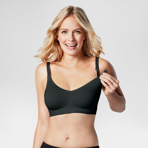 Bravado! Designs Women's Body Silk Seamless Nursing Bra - Black S, Size: Small