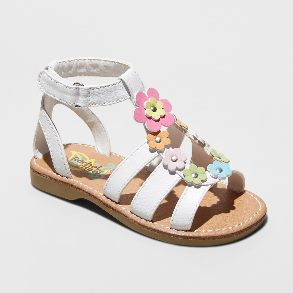 Toddler Girls' Rachel Gloria Gladiator Sandals - White 7