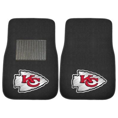 NFL Kansas City Chiefs Embroidered Car Mat Set - 2pc