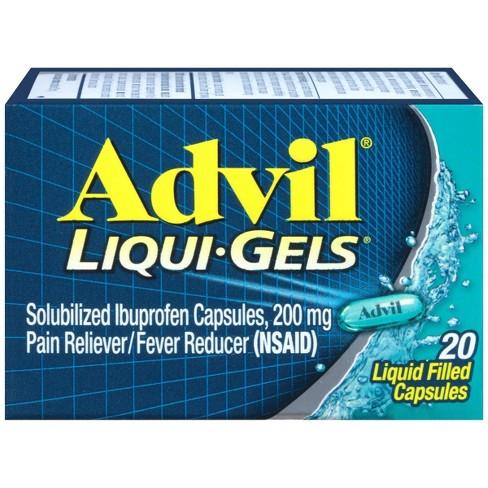Advil Liqui-Gels Pain Reliever/Fever Reducer Liquid Filled Capsules - Ibuprofen (NSAID) - image 1 of 4