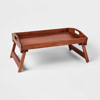 "22"" x 14"" Wood Signature Bed Tray - Threshold™"