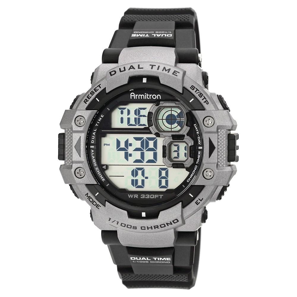 Men's Armitron Digital Sport Watch - Silver, Black/Silver