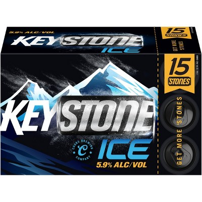 Keystone Ice Lager Beer - 15pk/12 fl oz Cans