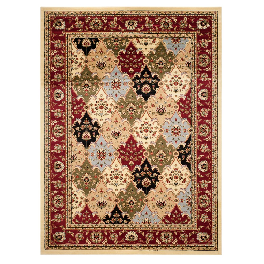Red Floral Loomed Area Rug 9 X12 Safavieh