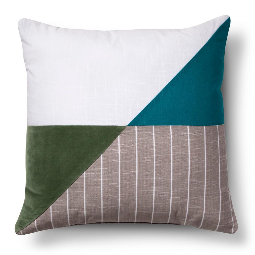 Whitecap Gray Color Block Throw Pillow - Room Essentials, Whitecap Grey