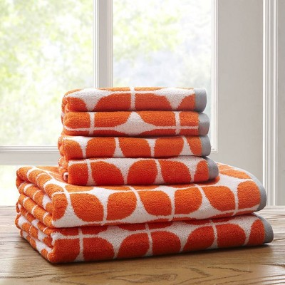 6pc Cotton Jacquard Bath Towel Set