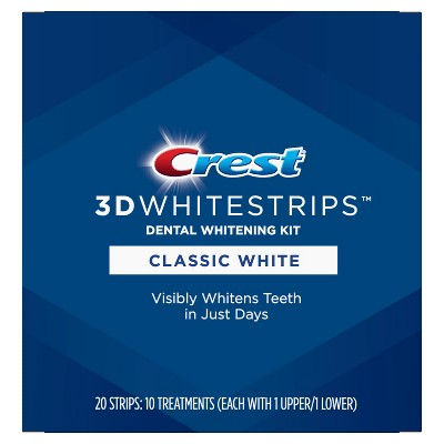 Crest 3d Whitestrips Classic White Teeth Whitening Kit 10ct