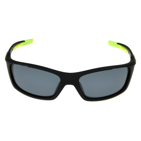 1affc5ef51 Men s Ironman Ironflex Polarized Wrap Sunglasses - Black   Target