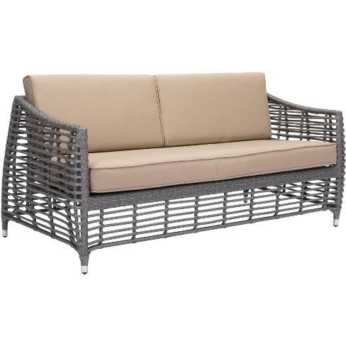 Awe Inspiring Zuo Modern 703827 Trek Beach 68 Long Aluminum Frame Outdoor Loveseat Short Links Chair Design For Home Short Linksinfo