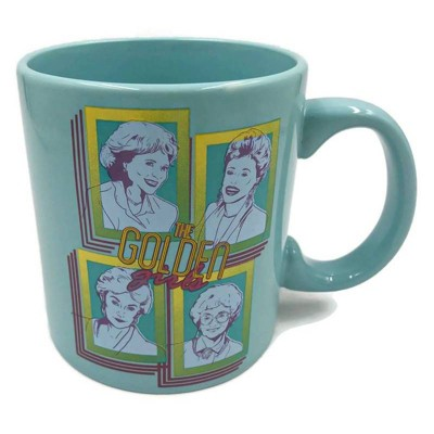 Golden Girls 20oz Ceramic Retro Squares Mug - Silver Buffalo