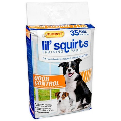 Ruffin' It Lil Squirts with Odor Control Dog Pads - 35ct