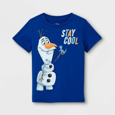 Toddler Boys' Frozen Olaf & Bruni Stay Cool Short Sleeve Graphic T-Shirt - Blue - Disney Store