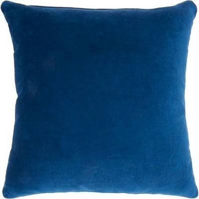 Solid Velvet Square Throw Pillow - Nourison