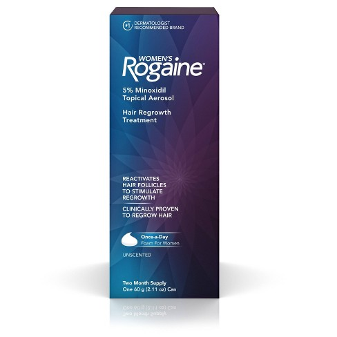 Women's Rogaine 5% Minoxidil Foam for Hair Regrowth - 2 Month Supply - image 1 of 4