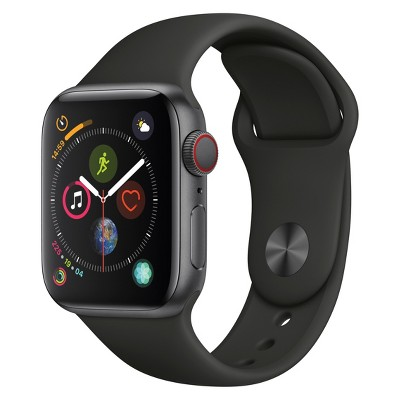Apple Watch Series 4 GPS & Cellular 44mm Space Gray Aluminum Case with Sport Band - Black
