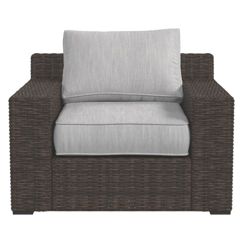 Alta Grande Lounge Chair With Cushion Beige Brown Outdoor By Ashley Target