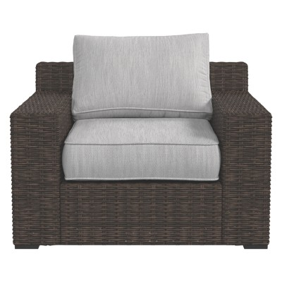 Alta Grande Lounge Chair With Cushion   Beige/Brown   Outdoor By Ashley :  Target