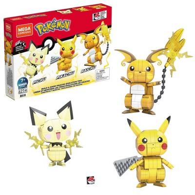 Mega Construx Pokémon Build and Show Pikachu Evolution Trio Construction Set