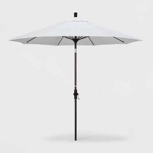 9' Aluminum Collar Tilt Crank Sunbrella Patio Umbrella - California Umbrella - image 1 of 1