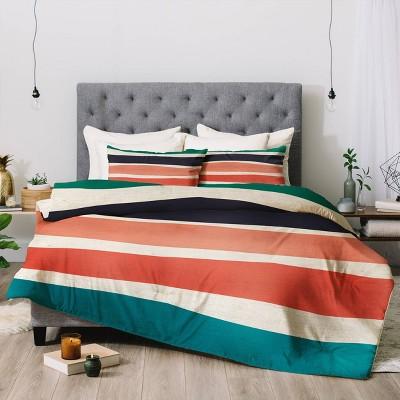 Zoe Wodarz Paper Stripe Comforter Set - Deny Designs