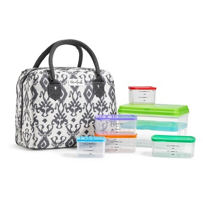 Fit & Fresh Bloomington Lunch Tote - Charcoal Ikat