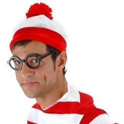 Elope Where's Waldo Costume Beanie Adult One Size
