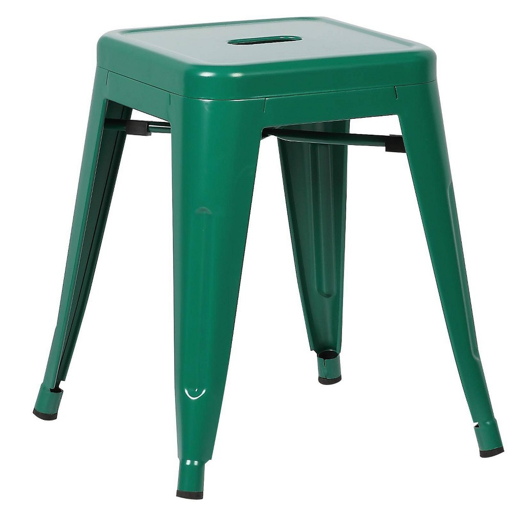 "Image of ""18"""" Franco Industrial Stool Dark Green - Poly & Bark"""