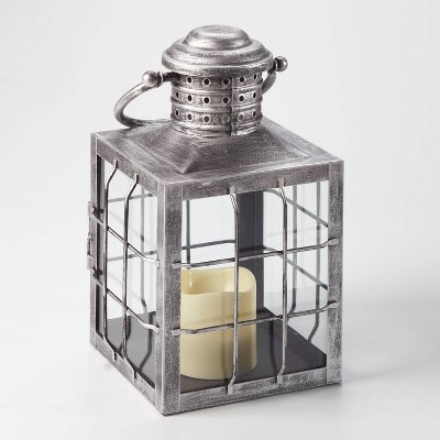 12  Charles LED Candle Outdoor Lantern Silver - Smart Living