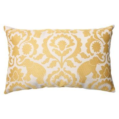 Pillow Perfect Babar Throw Pillow - Yellow (18.5 x11.5 )