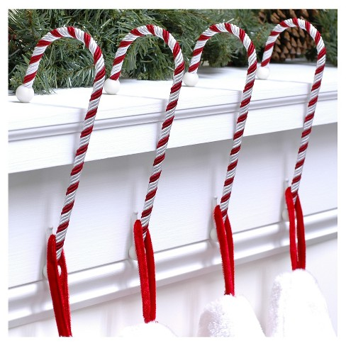 haute decor candy cane christmas stocking holders 4ct target