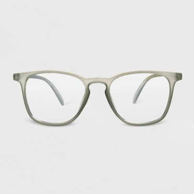 Women's Blue Light Filtering Square Glasses - A New Day™ Gray